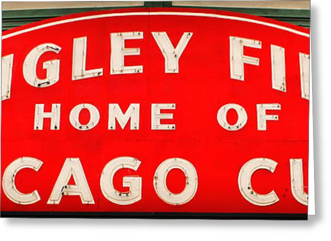 Wrigley Field Sign Greeting Card