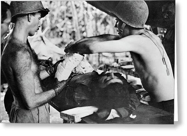 Wwii New Guinea, C1943 Greeting Card by Granger