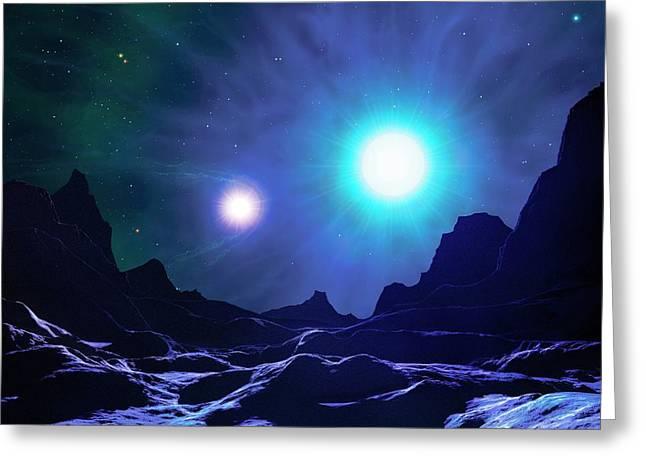 X-ray Binary In Night Sky Greeting Card