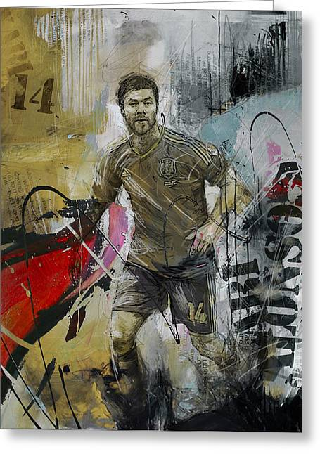 Xabi Alonso - C Greeting Card by Corporate Art Task Force
