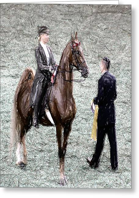 Xivg - World Championship Horse Show - Louisville Ky Greeting Card by Thia Stover