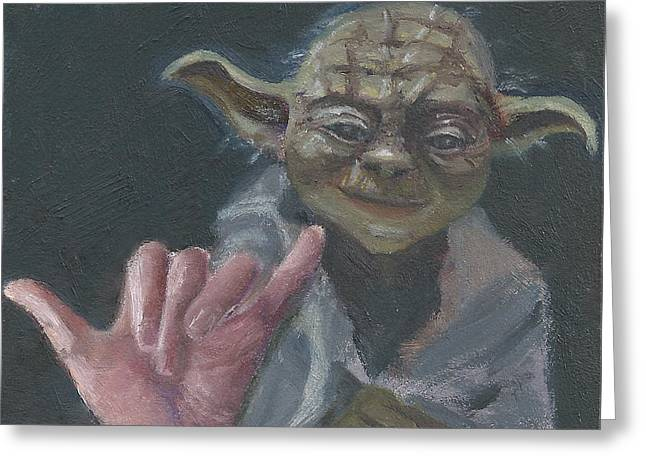 Y Is For Yoda Greeting Card by Jessmyne Stephenson