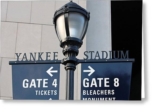 Yankee Stadium Sign Post Greeting Card by Aurelio Zucco