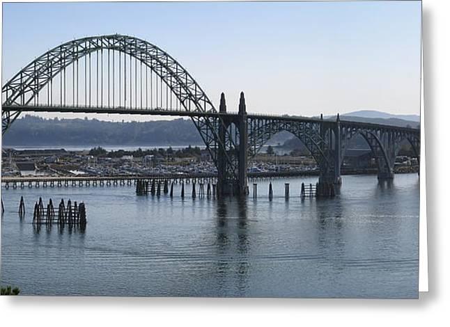 Yaquina Bay Bridge - Newport Oregon Greeting Card by Daniel Hagerman