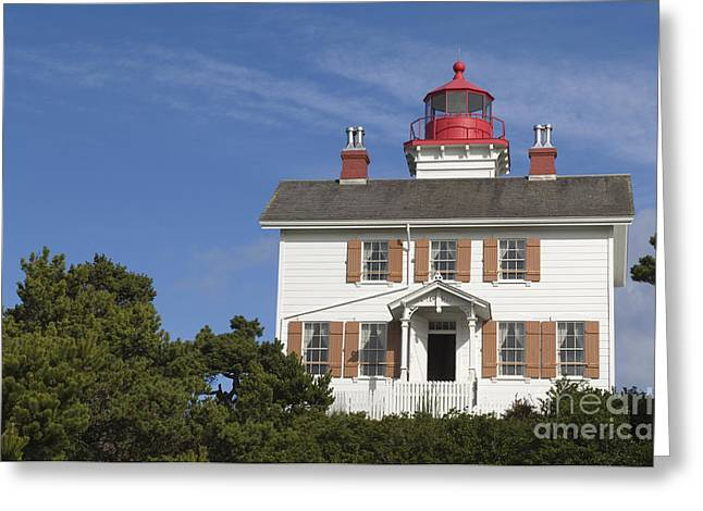 Yaquina Bay Lighthouse Greeting Card by John Shaw