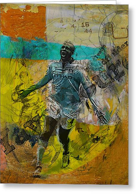Yaya Toure Greeting Card by Corporate Art Task Force