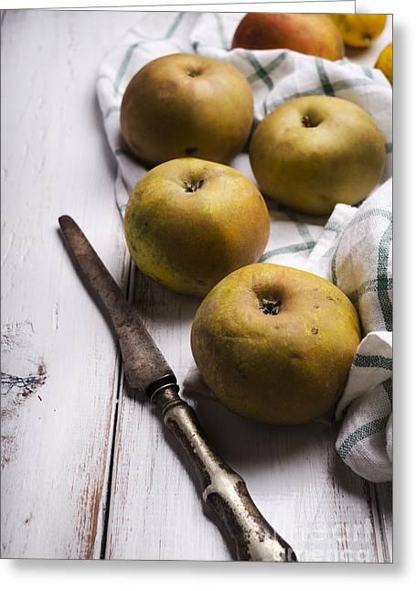 Yellow Apples Greeting Card by Jelena Jovanovic