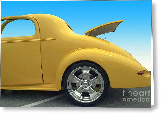 Yellow Coupe Greeting Card by Bill Thomson