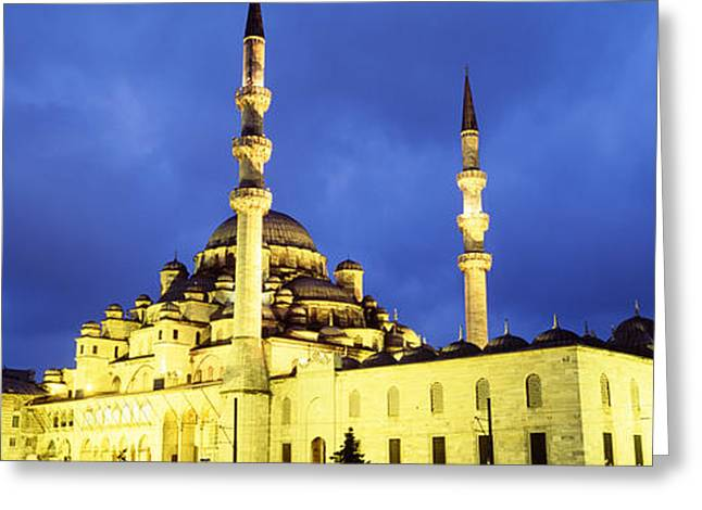 Yeni Mosque, Istanbul, Turkey Greeting Card by Panoramic Images