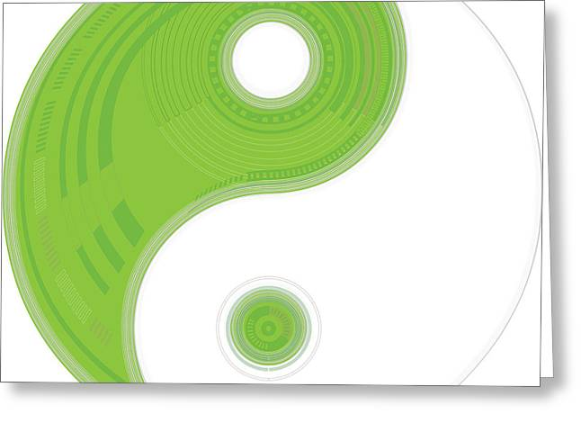 Yin Yang Greeting Card by Suzanne Hicks