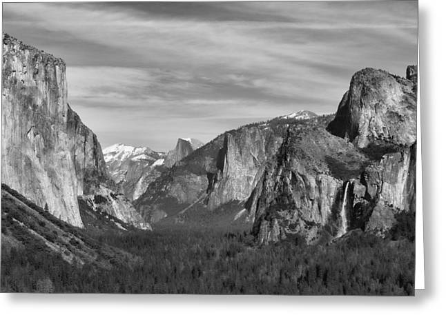 Yosemite Greeting Card by David Gleeson