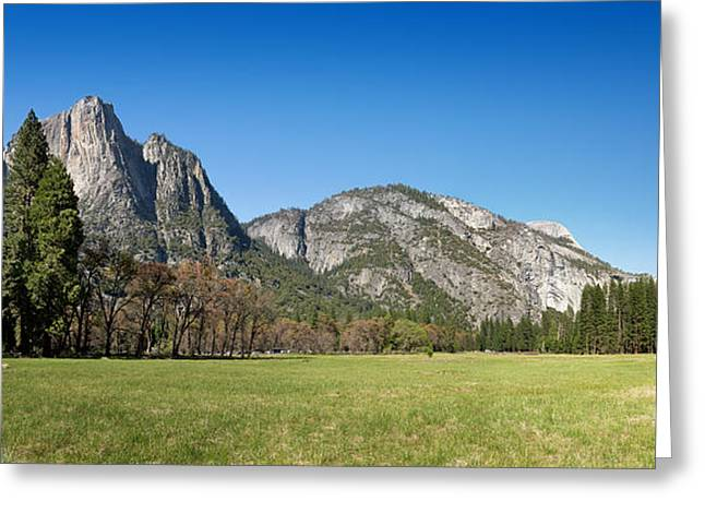 Yosemite Meadow Panorama Greeting Card