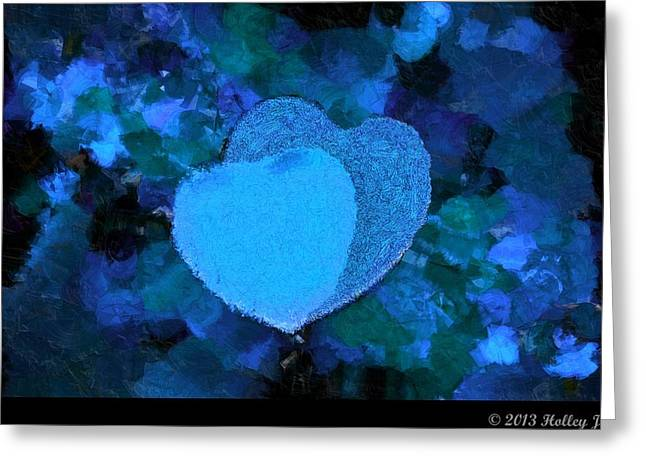 You Changed My Life Blue Greeting Card by Holley Jacobs