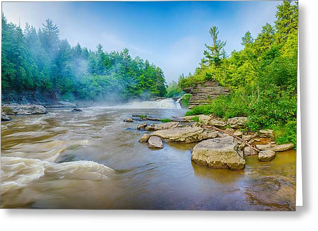 Youghiogheny River A Wild And Scenic Greeting Card by Panoramic Images