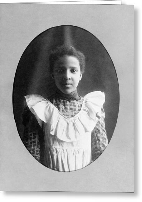 Young Woman, C1899 Greeting Card