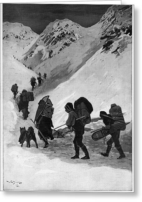 Yukon Gold Rush, 1896 Greeting Card by Granger