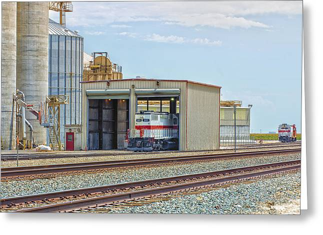 Foster Farms Locomotives Greeting Card