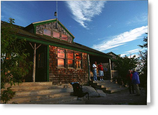 Zealand Falls Hut Greeting Card