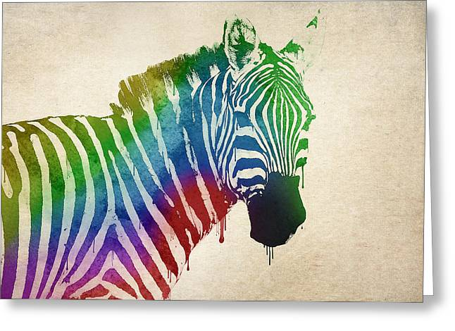 Zebra Greeting Card by Aged Pixel