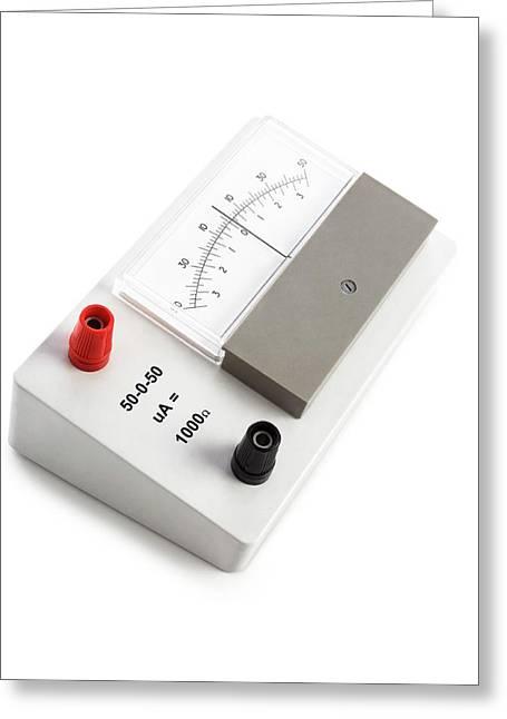 Zero-centre Ammeter Greeting Card