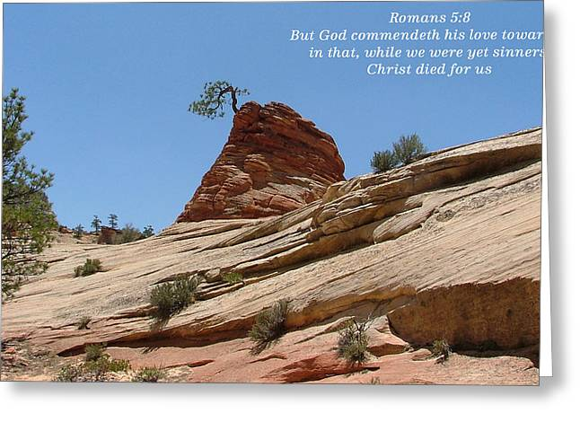 Zion Romans 5-8 Greeting Card by Nelson Skinner