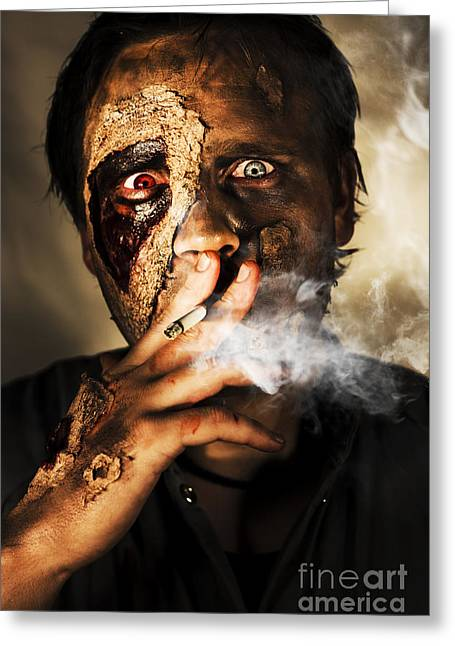 Zombie Killing Some Time Greeting Card by Jorgo Photography - Wall Art Gallery