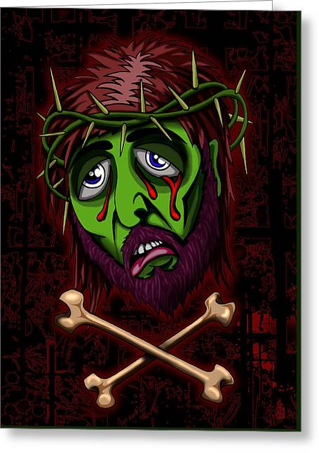 Zombie Superstar Greeting Card