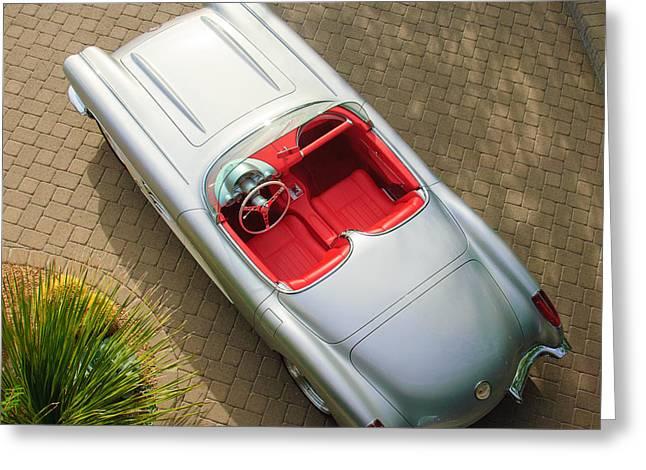 1960 Chevrolet Corvette Greeting Card by Jill Reger