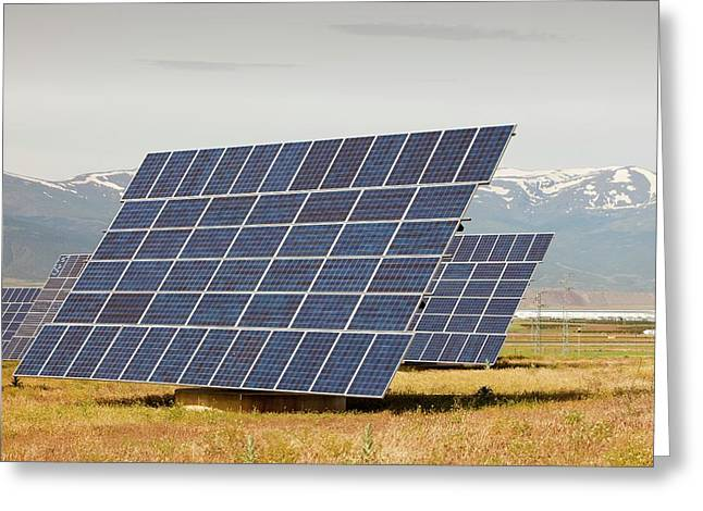 A Photo Voltaic Solar Power Station Greeting Card by Ashley Cooper
