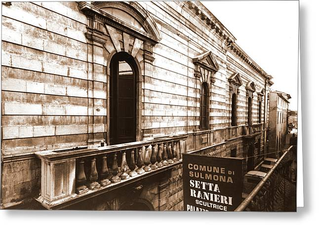 Abruzzo, Aquila, Sulmona, Historical Center Greeting Card
