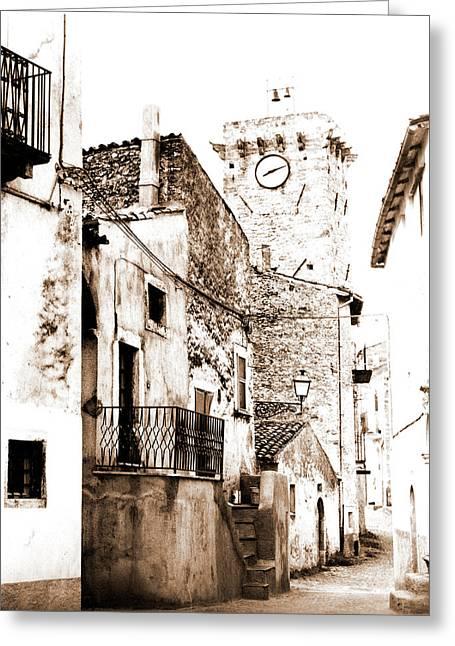 Abruzzo, Civitaretenga, Centro Storico, Italy Greeting Card
