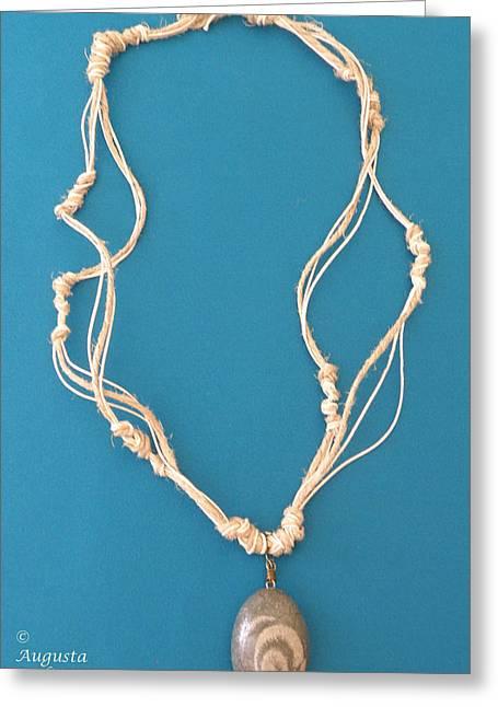 Aphrodite Urania Necklace Greeting Card by Augusta Stylianou