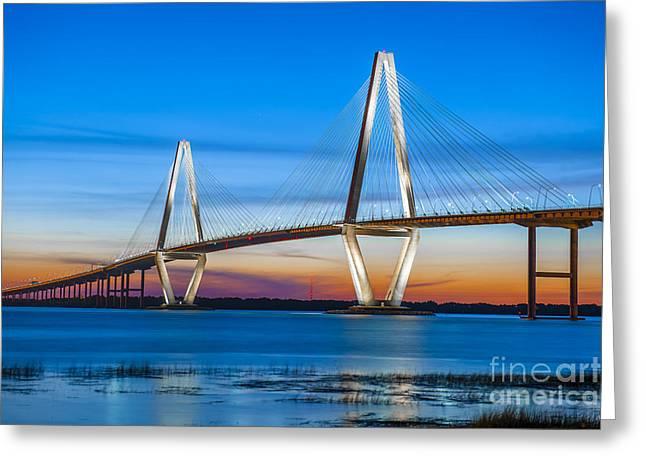 Charleston Arthur Ravenel Bridge Greeting Card