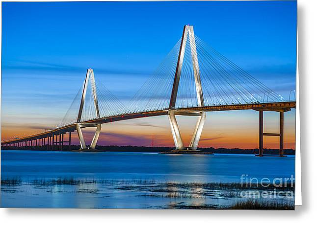Charleston Arthur Ravenel Bridge Greeting Card