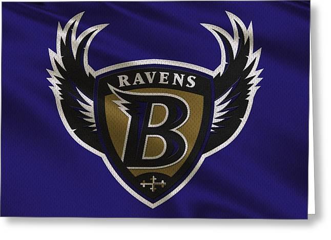 Baltimore Ravens Uniform Greeting Card by Joe Hamilton