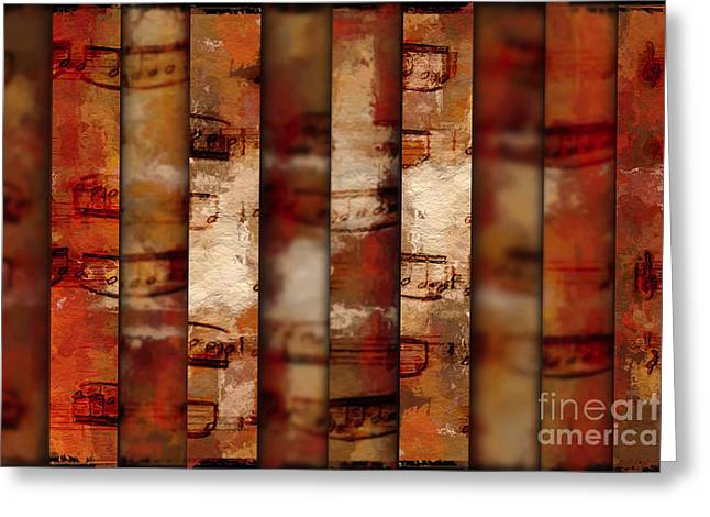 10-bar Orange Pastiche Greeting Card
