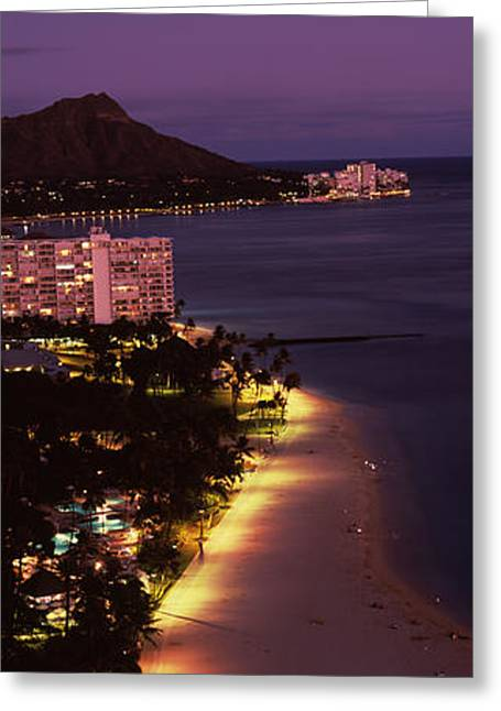 Buildings At The Waterfront, Honolulu Greeting Card