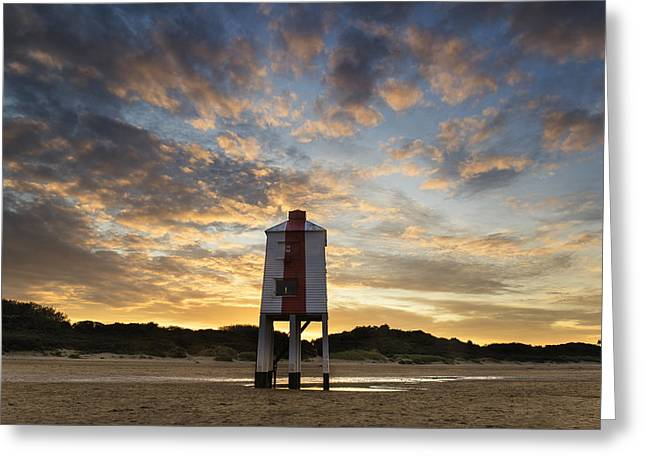 Burnham Lighthouse Landscape Image Sunrise Summer Greeting Card by Matthew Gibson