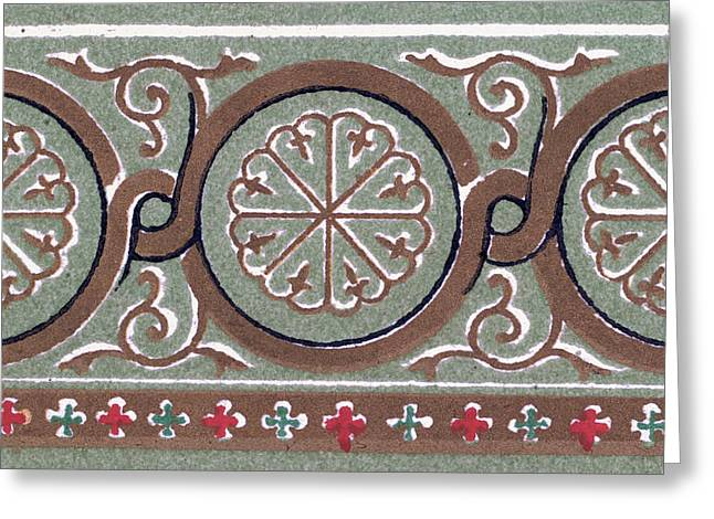 Byzantine Ornament Greeting Card by Litz Collection