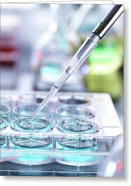 Chemical Research Greeting Card by Tek Image