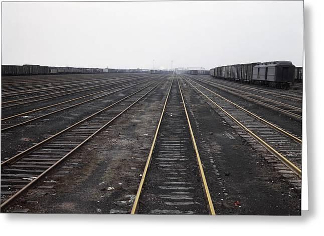 Chicago Railroad, 1943 Greeting Card