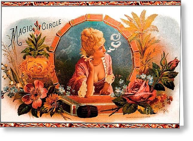 Cigar Label Greeting Card by Baltzgar