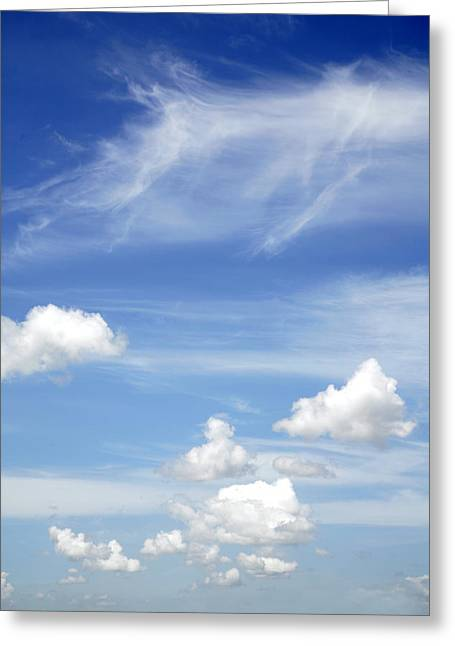 Clouds Greeting Card by Les Cunliffe