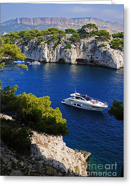 Beautiful Coast Of Cote D'azur Greeting Card by Maja Sokolowska