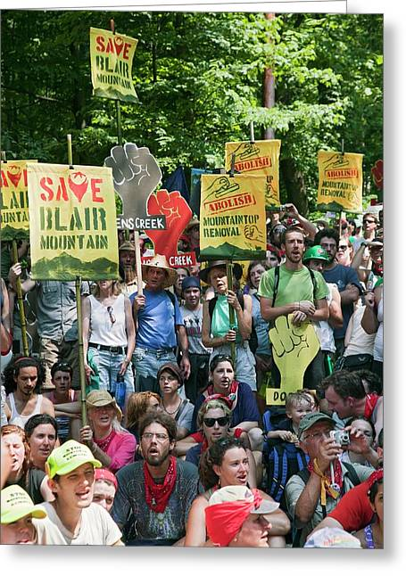 Environmental Protest Greeting Card by Jim West