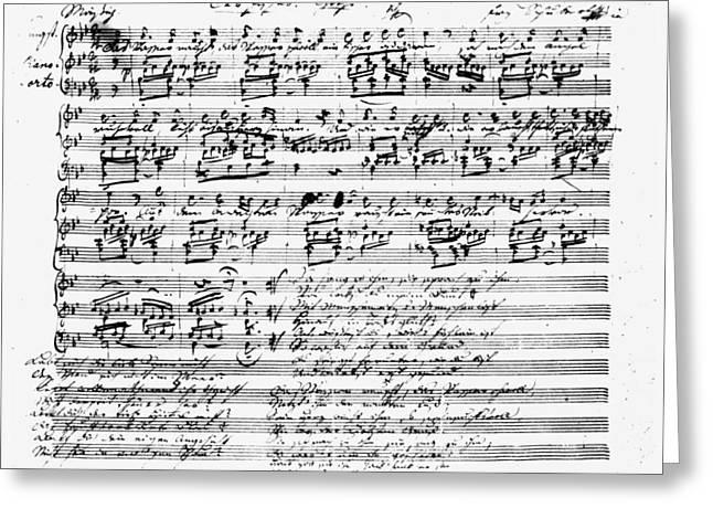 Franz Schubert (1797-1828) Greeting Card by Granger