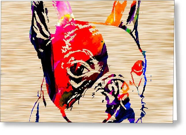 French Bulldog Greeting Card by Marvin Blaine