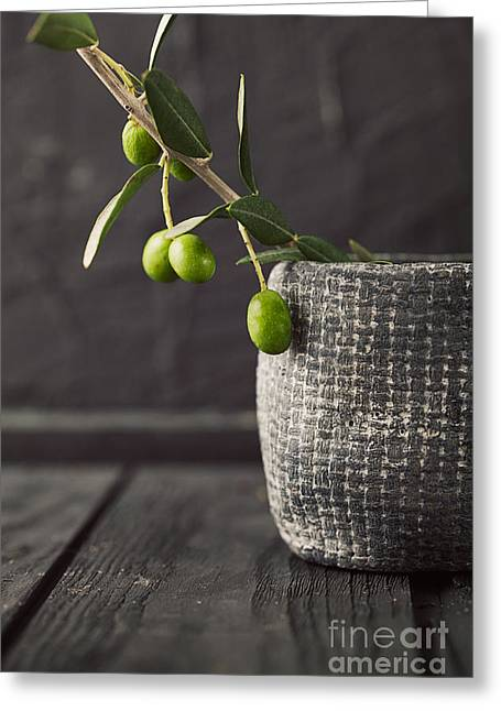 Fresh Olives  Greeting Card