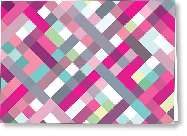Geometric Art Greeting Card by Mike Taylor