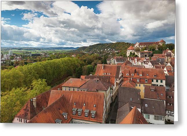 Germany, Baden-wurttemburg, Tubingen Greeting Card by Walter Bibikow